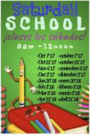 Saturday School and ASES Dates